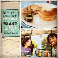 Photo taken at Beauty's Bagel Shop by Caleb B. on 6/2/2013