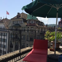 Photo taken at Rooftop Balcony Hans-Holbein Gasse 4 by Sandro P. on 6/9/2014