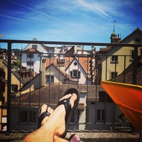 Photo taken at Rooftop Balcony Hans-Holbein Gasse 4 by Sandro P. on 6/7/2014