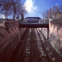 Photo taken at Buda Castle Hill Funicular by Merve İ. on 3/11/2013