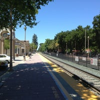 Photo taken at Menlo Park Caltrain Station by Thomas R. on 5/20/2013