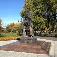 Photo taken at Памятник Петру и Февронии by Ольга Ж. on 9/30/2013