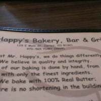 Photo taken at Mr. Happy's Bakery & Cafe by James A. on 12/17/2012