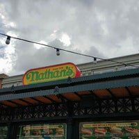 Photo taken at Nathan's Famous by Jeremiah S. on 8/12/2015