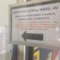Photo taken at Lembaga Hasil Dalam Negeri (LHDN) by Syera on 4/14/2017