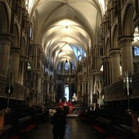 Photo taken at Canterbury Cathedral by Ganesh R. on 12/29/2012