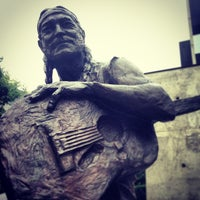 Photo taken at Willie Nelson Statue by Alan W. on 5/8/2013