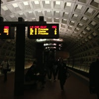 Photo taken at Foggy Bottom-GWU Metro Station by Emily T. on 11/13/2013
