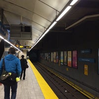 Photo taken at Yaletown - Roundhouse SkyTrain Station by Yosuke S. on 5/4/2014