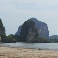 Photo taken at Rajamangala Beach by Daisy A. on 4/16/2014
