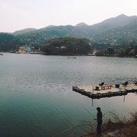 Photo taken at 기산저수지 by hwangcaptain . on 4/13/2014