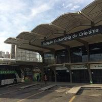 Photo taken at Estação Rodoviária de Criciúma by Rodrigo P. on 6/23/2014