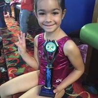 Photo taken at Gwinnett gymnastics center by Emily D. on 5/2/2015
