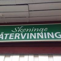 Photo taken at Skeninge Återvinning (lilla butiken) by Jimmy G. on 8/8/2014