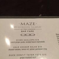 Photo taken at Maze Restaurant by John P. on 2/17/2015