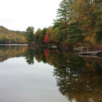 Photo taken at Wicwas Lake by Tamara N. on 10/14/2014