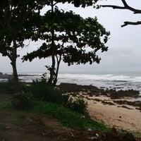 Photo taken at Rancabuaya Beach by Iman N. on 12/27/2014