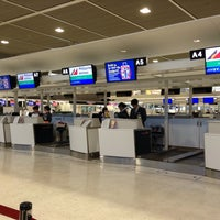 Photo taken at Philippine Airline Check-in Counter A by Ryan D. on 11/1/2013