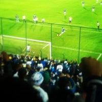 Photo taken at Estádio Joaquim Henrique Nogueira (Arena do Jacaré) by Léo L. on 6/6/2013