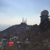 Photo taken at 관악산 연주대 by Soyoun K. on 3/6/2015