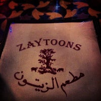Photo taken at Zaytoons by Laura S. on 1/11/2013