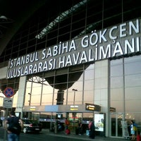 Photo taken at Istanbul Sabiha Gökçen International Airport (SAW) by Ismail K. on 10/24/2013