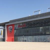 Photo taken at Audi Sportpark by Aris T. on 3/21/2015