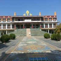 Photo taken at Shar Ganden Monastery Mundgod by Rueya M. on 1/18/2014
