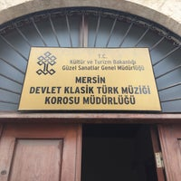 Photo taken at mersin devlet klasik turk muzigi korosu mudurlugu by Mustafa M. on 4/13/2017