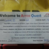 Photo taken at Astor's Quest Hotel by Bruno L. on 9/12/2013