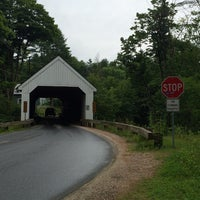 Photo taken at South Newfane Covered Bridge by gridrebel on 7/20/2014