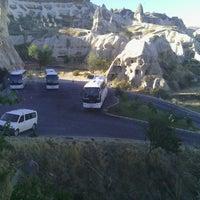 Photo taken at Sos Cave Hotel by Melih Ç. on 10/10/2013