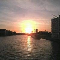 Photo taken at Oberbaumbrücke by mika m. on 6/3/2013