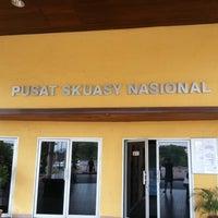 Photo taken at Pusat Skuasy Nasional Bukit Jalil by Max K. on 9/23/2012