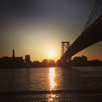 Photo taken at Williamsburg Bridge by Aaron W. on 2/14/2013