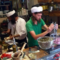 Photo taken at Lahuhe Original Yemanite Food Bar by Casey D. on 6/25/2015