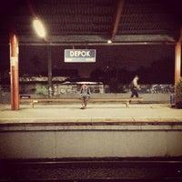 Photo taken at Stasiun Depok Lama by Davina C. on 3/6/2013