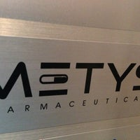 Photo taken at Metys Pharmaceuticals by Michael S. on 9/29/2013