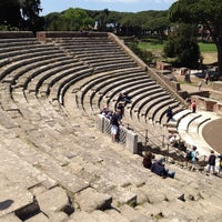 Photo taken at Teatro Ostia Antica by Vincenzo C. on 4/24/2014