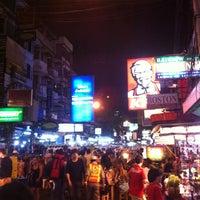 Photo taken at Khao San Road by phikun C. on 2/9/2013