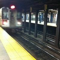 Photo taken at MTA Subway - 8th St/NYU (R/W) by Patryk C. on 1/6/2013