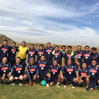 Photo taken at Campos De Futbol Las Minas by Alejandro S. on 1/30/2016