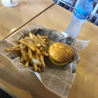 Photo taken at way back burgers by Ibrahim A. on 4/5/2018