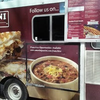 Photo taken at Amorini Panini Truck by Jessica L. on 3/4/2014