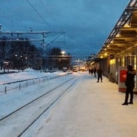 Photo taken at Tønsberg stasjon by NoReason T. on 1/29/2014