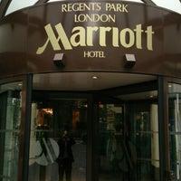 Photo taken at Marriott London Regents Park by Ben W. on 6/17/2013