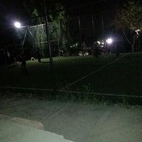 Photo taken at Halı Saha by Aa B. on 6/26/2014