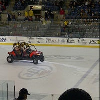 Photo taken at Rushmore Plaza Civic Center Ice Arena by Hayley L. on 12/30/2012