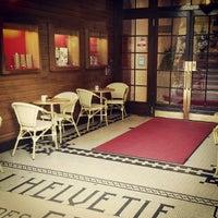 Photo taken at Hôtel Helvetie by Hesham W. on 4/16/2014