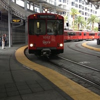 Photo taken at America Plaza Trolley Station by Choco on 12/16/2012